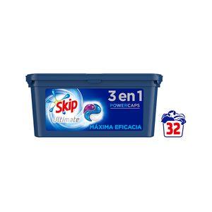 Skip Ultimate Triple Poder PowerCaps Detergente Máxima Eficacia 32 lav
