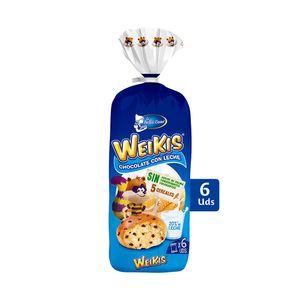 Weikis Leche de 6 uds, 240 g (40 g cada bollo)