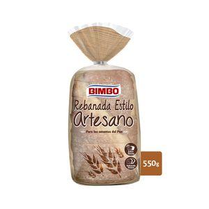 Bimbo Rebanada Estilo Artesano, Pan blanco con corteza 550 g, 14 rebanadas