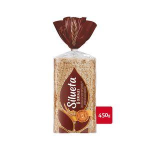 Silueta Sin Corteza 8 Cereales, pan con cereales 100% integral sin corteza 450 g, 16 rebanadas