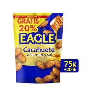 Eagle Cacahuete frito miel Sabor único, 75 g