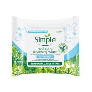 Simple Toallitas Desmaquillantes Hidratantes 20 pc