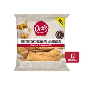 Ortiz Pan Crujiente horneado 50% Integral Corto 70 g
