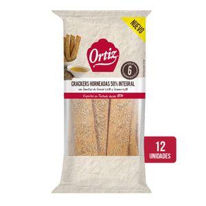 Ortiz Pan Crujiente horneado 50% Integral con Pipas y Semillas 70 g