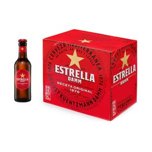 Estrella Damm Botella 25 cl Pack 12 uds