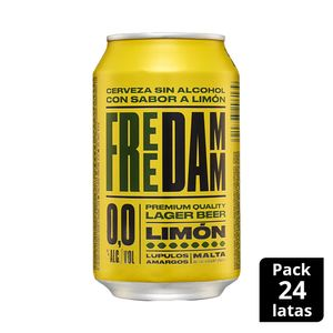 Free Damm Limon Lata 33 cl Pack 24 uds