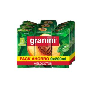 Granini Zumo Melocotón 9 uds X 200 ml
