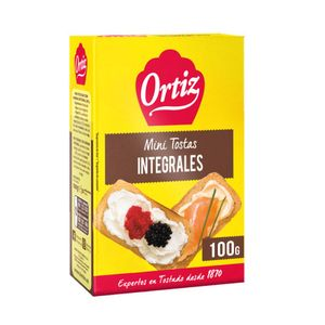 Ortiz Mini Tostas Integrales 100 g