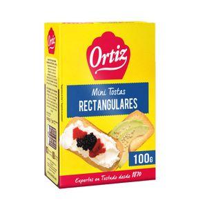 Ortiz Mini Tostas Rectangulares 100 g